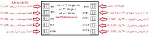 نحوه استفاده از مبدل سطح ولتاژ 3.3 تا 18 ولت DC به سطح ولتاژ 220 ولت AC چهار کاناله ایزوله شده